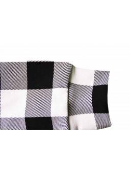 Szara bluza w gwiazdki z dodatkami w kolorze fuksji + spodnie w kolorze fuksji